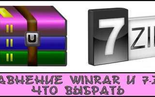 Що краще: WinRAR або 7-Zip