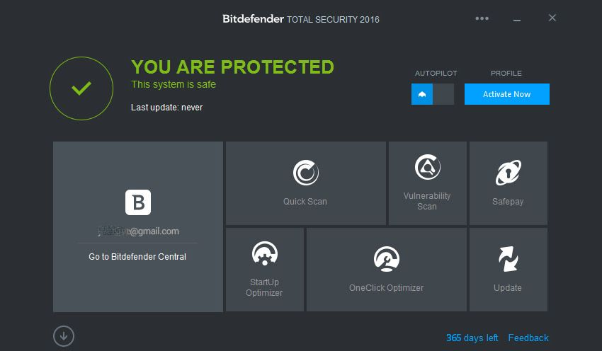 Налаштування Bitdefender Total Security