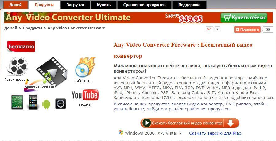 Any Video Converter Freeware