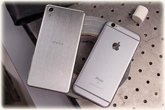 Sony Xperia X & iphone 6s (photo)
